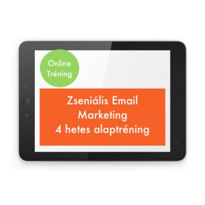 Zseniális Email Marketing 4 hetes Alaptréning